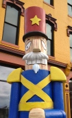 Nutcracker sculptures in Downtown