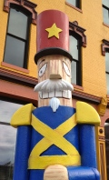 Nutcracker sculptures in Downtown