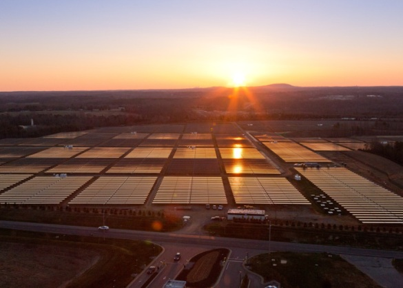 Apple's solar farm in North Carolina
